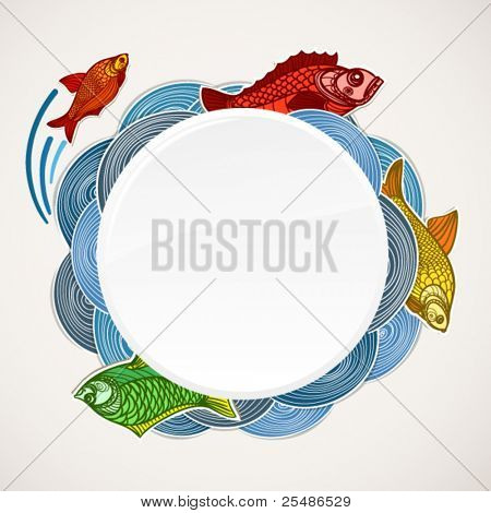 Fish vector template. Ready for a text