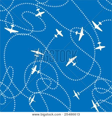 Airplanes background seamless background