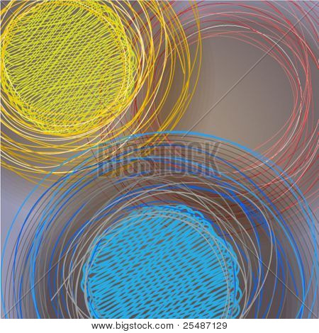 Abstract background of lined circles. Ready for your text