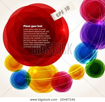 Color abstract bubbles. Ready for a text
