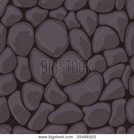 Dark Stone Seamless. Vector illustration