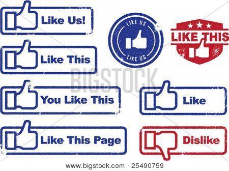 sozialer Medien wie Briefmarken