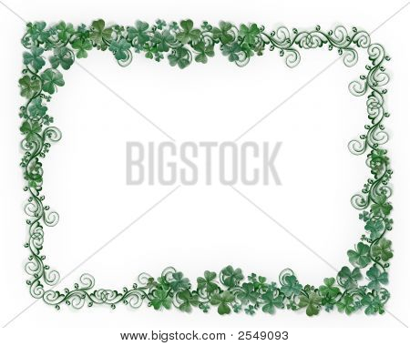 St. Patty'S Day Shamrocks Design
