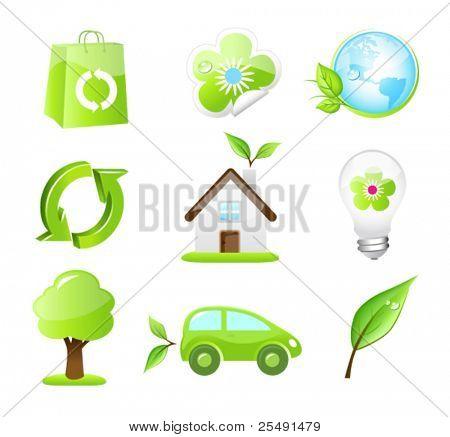 Nine Eco-Friendly Icons