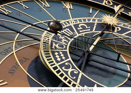 Historical astronomical clock in Prague (orloj)
