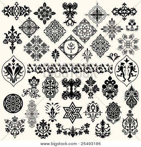 Conjunto de elementos Vintage