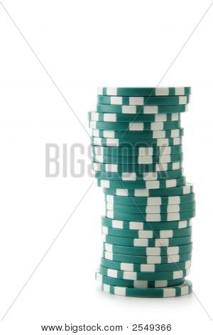 Green Casino Chips