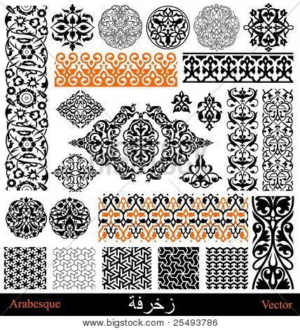 Vector arabian and persian ornaments