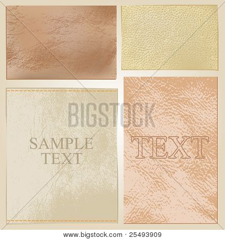 Vector leather labels