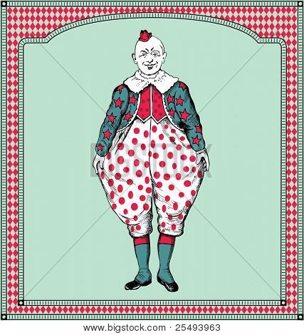 vector hand drawn clown