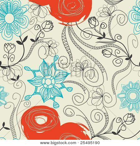Floral seamless pattern