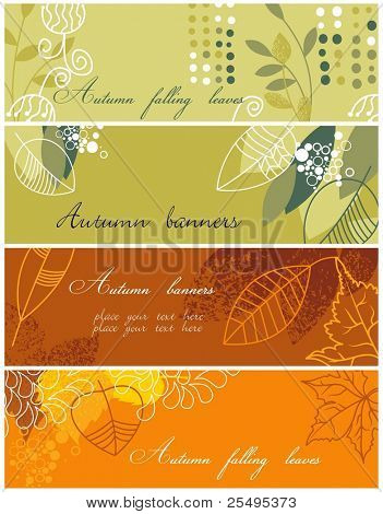 Autumnal banners collection