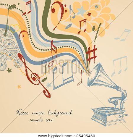 Fundo de música retro
