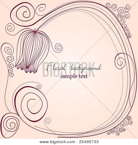 Floral background with tulip