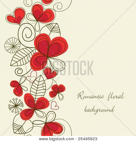Flower love seamless background