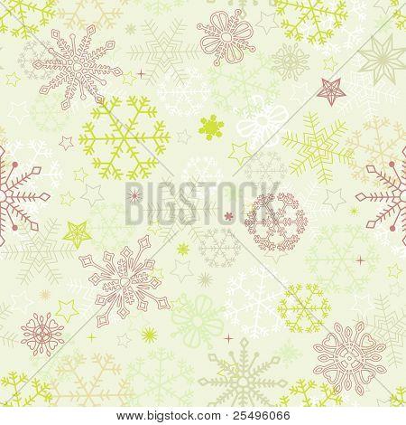 Retro snowflakes seamless pattern