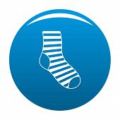 Woman Sock Icon. Simple Illustration Of Woman Sock Icon For Any Design Blue poster