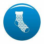 Child Sock Icon. Simple Illustration Of Child Sock Icon For Any Design Blue poster