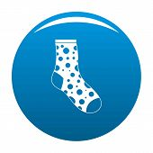 Lost Sock Icon. Simple Illustration Of Lost Sock Icon For Any Design Blue poster
