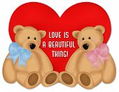 picture of teddy-bear  - a 2d mouse drawn romantic image - JPG