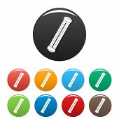 Medical Thermometer Icon. Simple Illustration Of Medical Thermometer Icons Set Color Isolated On Whi poster