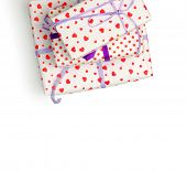 Lovely giftboxes isolated on a white background poster