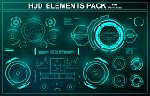 Hud Blue Interface Dashboard, Virtual Reality Interface, Futuristic Virtual Graphic Touch User Inter poster