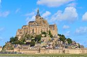 stock photo of mont saint michel  - Mont Saint Michel Abbey Normandy  - JPG