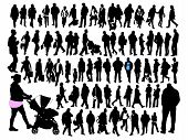 image of ordinary woman  - Silhouettes of ordinary people in everyday movements - JPG