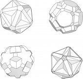 picture of dodecahedron  - Vector set of geometric objects - JPG