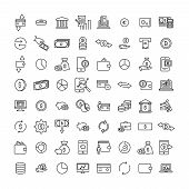Modern Outline Style Money Icons Collection. Premium Quality Symbols And Sign Web Logo Collection. P poster