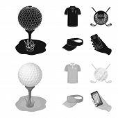 Emblem Of The Golf Club, Cap With A Visor, Golfer Shirt, Phone With A Navigator.golf Club Set Collec poster