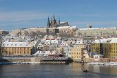 Historic Prague In Winter poster