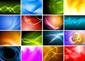 Collection of abstract multicolored backgrounds. Eps 10 vector
