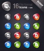 Glossy Pebbles - File format icons