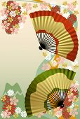 Постер, плакат: Японский вентилятор
