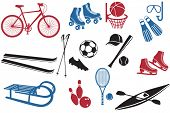 Sport Icons Collection, representing various sports and activities