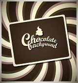 image of pamphlet  - Chocolate background - JPG