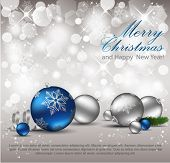 picture of merry christmas text  - Elegant Christmas Background - JPG