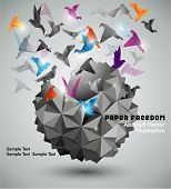 stock photo of paper craft  - Paper Freedom - JPG