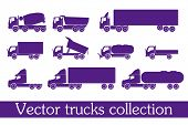 stock photo of truck-cabin  - vector trucks collection - JPG