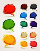 Постер, плакат: Абстрактный рисованной говорить пузыри набор