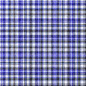 Blue White And Black Fuzzy Modern Style Tartan Pattern Seamless Tile 3d Illustration poster