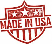 Made in USA Vintage Shield Imprint