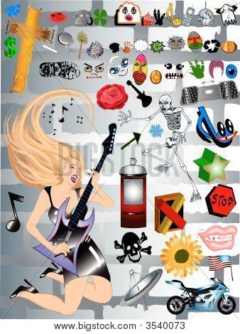 Graffiti Musician Girl