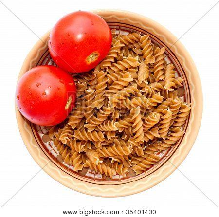 Plate Pasta Tomato