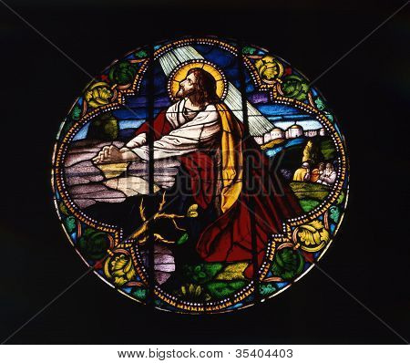 Christ Stained Glass
