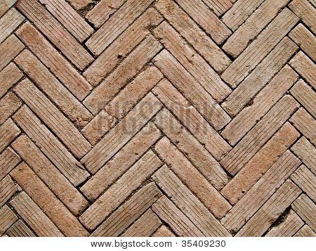 Contemporary Herringbone Pattern Brickwall