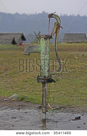manual hand water pump, India