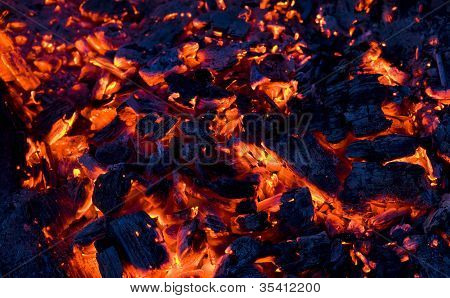 Glowing Coals Background